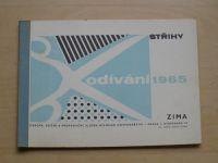 Odívání - Střihy - Zima (1965)