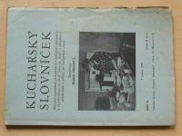 Marie Preissová - Kuchařský slovníček, Sešit 4 (1940)
