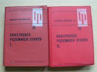 Technický průvodce  - Konstrukce pozemních staveb I. II. (SNTL 1971)