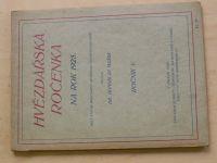 Mašek - Hvězdářská ročenka na rok 1925 (Ročník V.)
