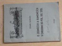 Čeněk Florián - O zednících a kamenících v Chrudimi do pol. XIX. stol. (1948) podpis autora