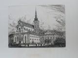 Karel Vik - Kostel svatého Tomáše s býv. místodržitelstvím (1928) Brno
