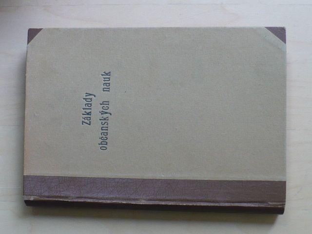 Základy občanských nauk - přednášky min. nár. obrany 1919