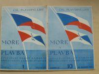 Moře a plavba - Čsl. plavební list (1937)
