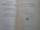 Holeček - Národní epika bosenských mohamedánů (1917)