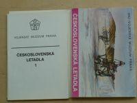 Československá letadla 1 - Vojenské muzeum Praha (12 pohlednic + obálka)