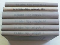 Dr. Kádner - Dějiny pedagogiky (I.-III., 6 knih) (1923)