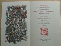 Pohádka o dobrodružstvích a chrabrosti Jeruslana Lazareviče (1945) dřev. Lacina, podpis