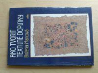 Mancová - Ako tvoriť textilné doplnky (1990) slovensky