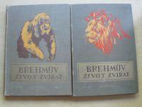 Brehmův ilustrovaný život zvířat (Sfinx Praha 1925-7) I. - VI. 6 dílů
