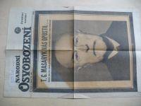 Novinové výtisky k památce úmrtí T.G.M. (1937)