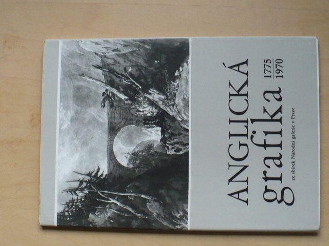 Anglická grafika NG Praha 1986 - katalog k výstavě