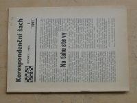 Korespondenční šach 1-6 (1991) ročník I.