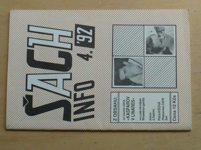 Šach info 4 (1992) ročník I.