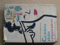Klimentová - Co máme vědět o přípravě pokrmů (1957)
