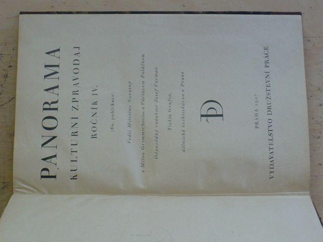 Panorama - Kulturní zpravodaj ročník IV. (1927)