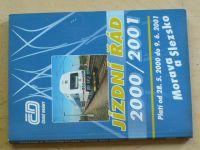 České dráhy - Jízdní řád 2000/2001 Morava a Slezsko