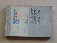 ČSAD 11 - Cestovný poriadok 1984/1985 Medzinárodné a dialkové linky v ČSSR