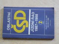 Oblastní jízdní řád ČSD 1987-1988 část 2 - Morava
