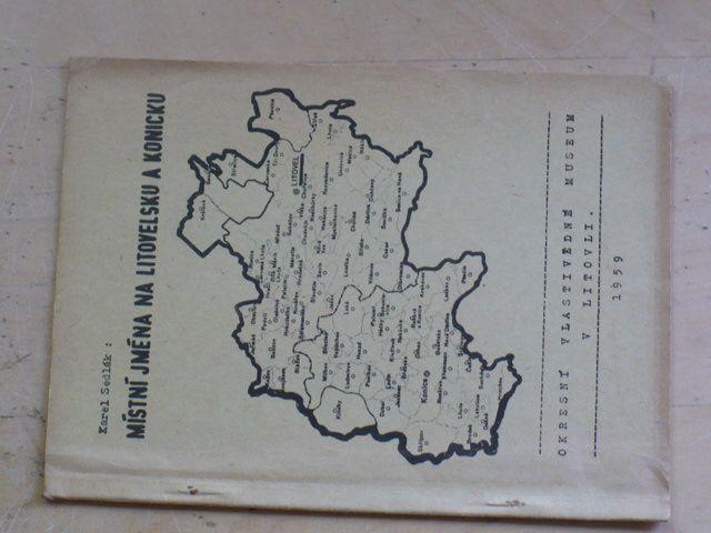 Sedlák - Místní jména na Litovesku a Konicku (1959)