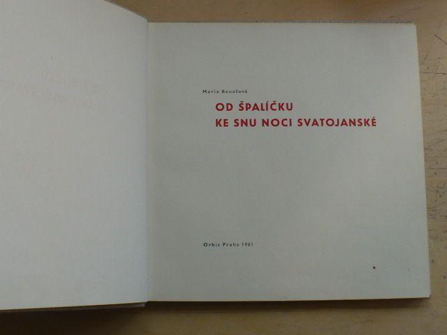 Benešová - Od špalíčku ke snu noci svatojánské (1961)