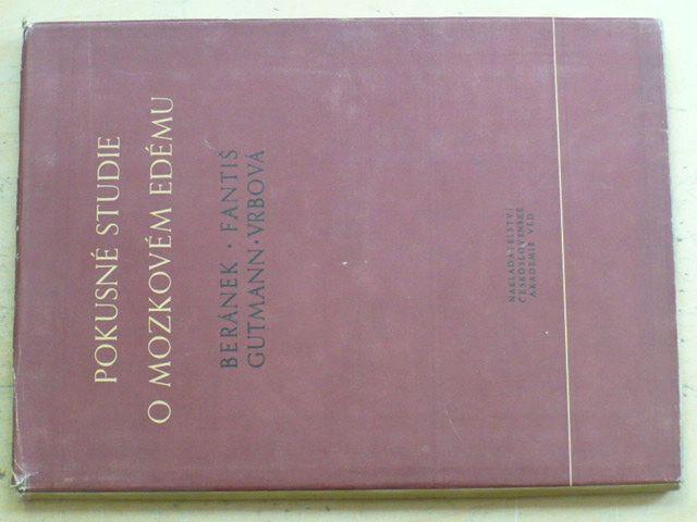 Beránek - Pokusné studie o mozkovém edému (1955)