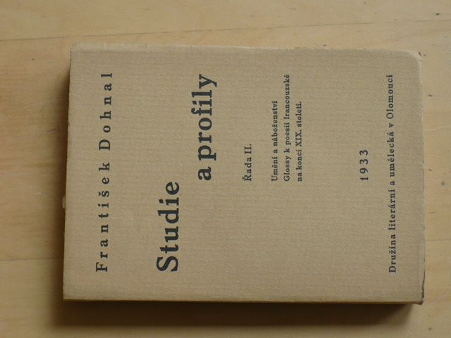 František Dohnal - Studie a profily (1933) Řada II.