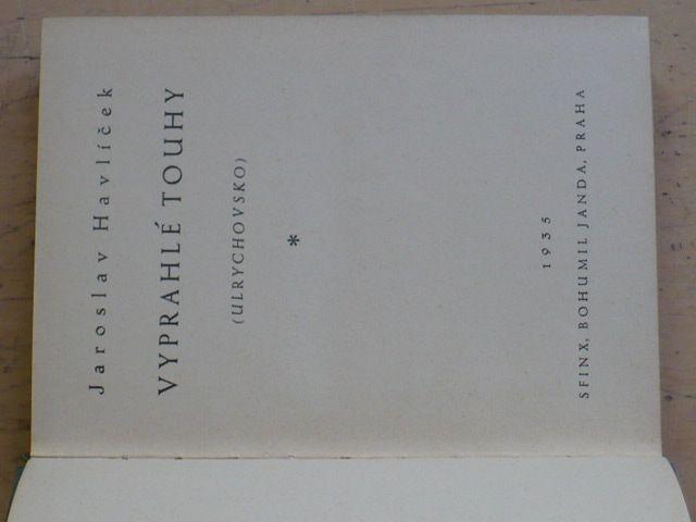 Havlíček - Vyprahlé touhy (1935)