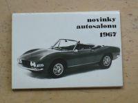 Novinky autosalonu 1967 (12 fotografií v obálce)