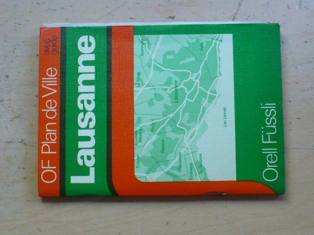 Orell Füssli - Lausanne - OF Plade de Ville avec guide 1:10000 (1978/9)