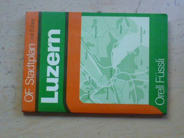 Orell Füssli - Luzern - OF Stadplan mit Führer 1:20000 (1974/5)