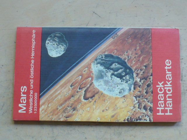Haack Handkarte - Mars 1:23500000 (1985) německy, Mars - mapa