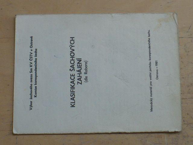 Klasifikace šachových zahájení (1981)