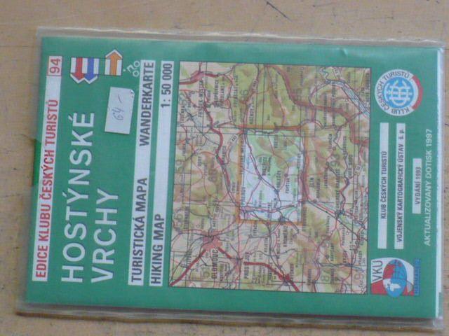 Mapa 1:50000 KČT 94 - Hostýnské vrchy (1997)