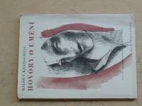 Miloš V. Kratochvíl - Hovory o umění (Vilímek 1946) ob. Svolinský