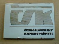Československý kamenoprůmysl 1963-1978 15 let VHJ ČSK