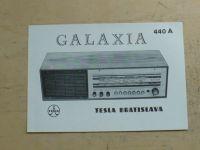 Prospekt - Rozhlasový přijímač Galaxia 440 A - Tesla Bratislava