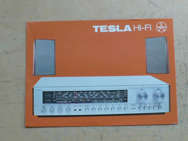 Prospekt Tesla Hi-Fi Radio Set 810 A (anglicky)