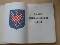 Zvolský - Znaky moravských měst (Brno 1947)