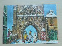 Prostorové leporelo - Radostné Vánoce a šťastný Nový Rok (Kubašta 1983)
