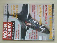 Model hobby magazín 1-12 (2002) chybí čísla 1-2, 5, 8, 11-12 (6 čísel)