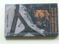 Mána - Co má vědět každý kovopracovník (1929)