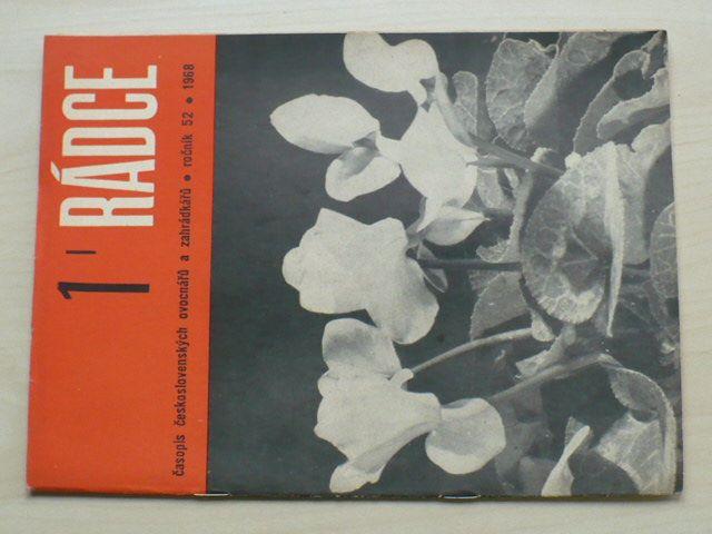 Rádce 1-12 (1968) ročník LII. (chybí čísla 10-12, 9 čísel)