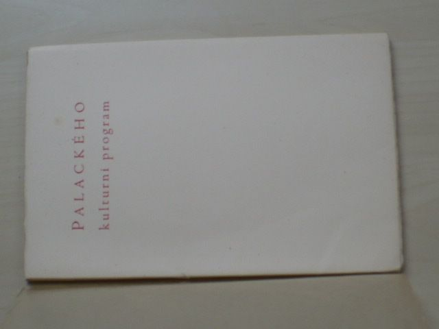 Palackého kulturní program z roku 1837 - Úvod napsal Fr. Táborský (1937) 187/250