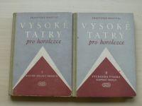 Kroutil - Vysoké Tatry pro horolezce I. II. (1956) 2 knihy