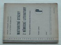 Pulec, Kubelka - Maturitní otázky z německé literatury (1941)