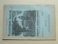 Vlastivědný sborník střední a severní Moravy 1-10 (1936-37) ročník XV. (+5 příloh)