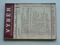 Výběr 1-12 (1937) ročník IV. (chybí čísla 4, 7, 10 čísel)