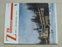 Železničář 1-24 (1979) ročník XXIX. (chybí čísla 13-14, 17-24, 14 čísel)