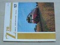 Železničář 17 (1978) ročník XXVIII.
